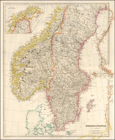 37-Scandinavia Map By John Arrowsmith