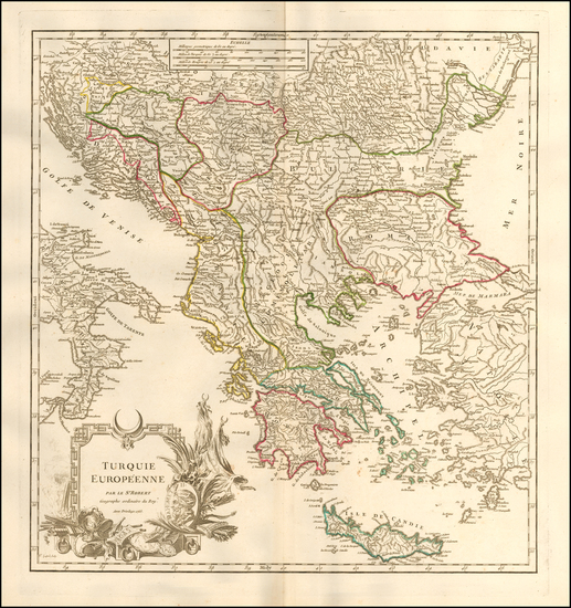 75-Greece and Turkey Map By Didier Robert de Vaugondy