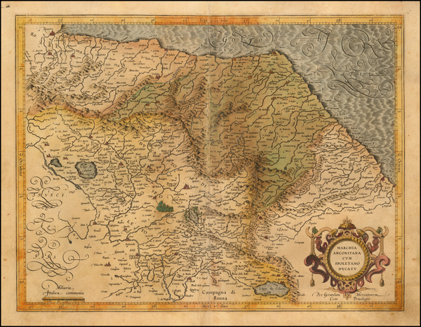 96-Northern Italy Map By  Gerard Mercator
