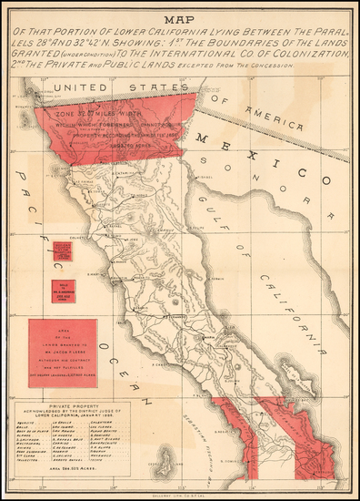 6-Baja California and Rare Books Map By