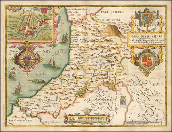 57-Wales Map By John Speed
