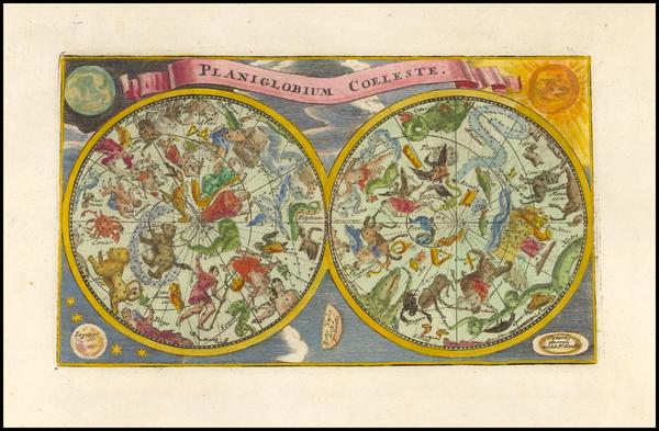 Celestial Maps Map By Adam Friedrich Zurner / Johann Christoph Weigel