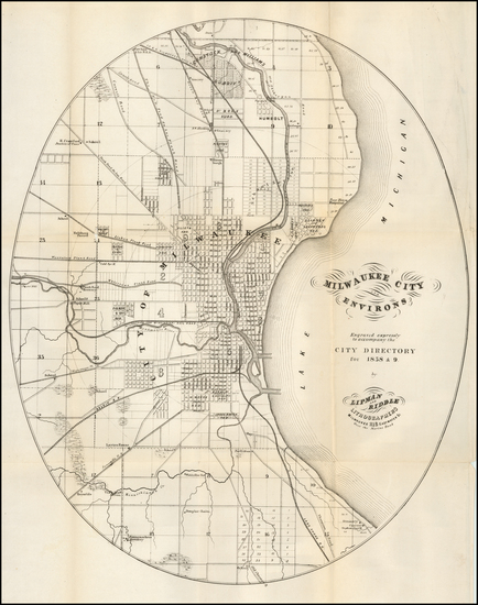 25-Wisconsin Map By Lipman & Riddle