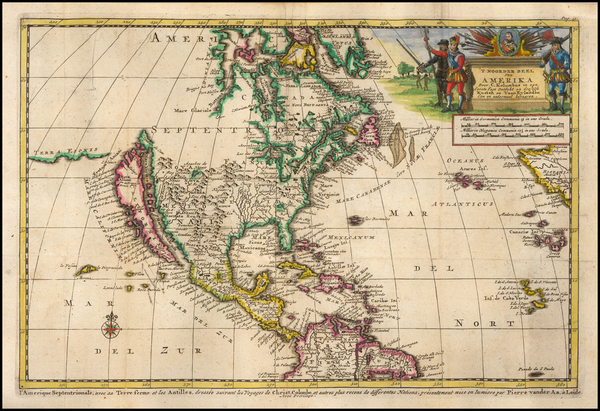 70-North America and California as an Island Map By Pieter van der Aa