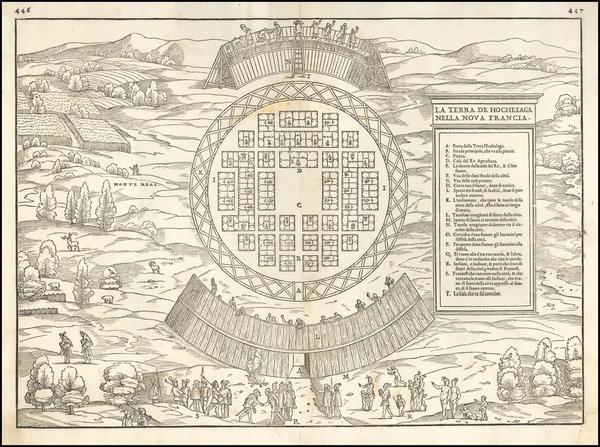 81-Canada Map By Giovanni Battista Ramusio