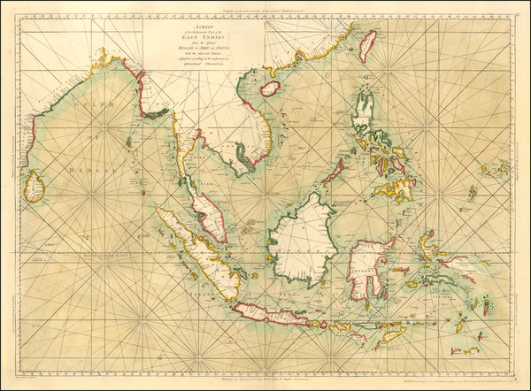 23-Indian Ocean, China, Southeast Asia, Philippines, Indonesia and Malaysia Map By Henry Gregory