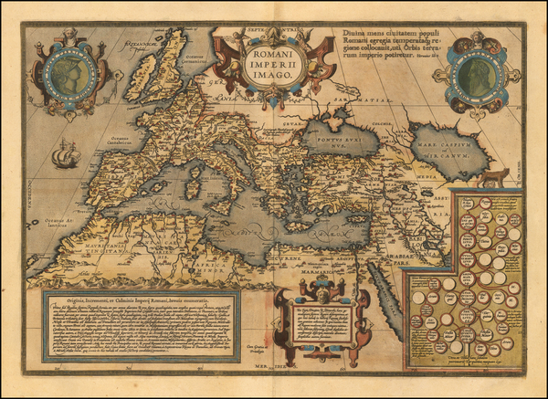 Europe, Italy, Mediterranean and Turkey & Asia Minor Map By Abraham Ortelius