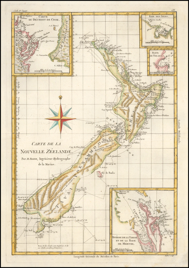 New Zealand Map By Rigobert Bonne