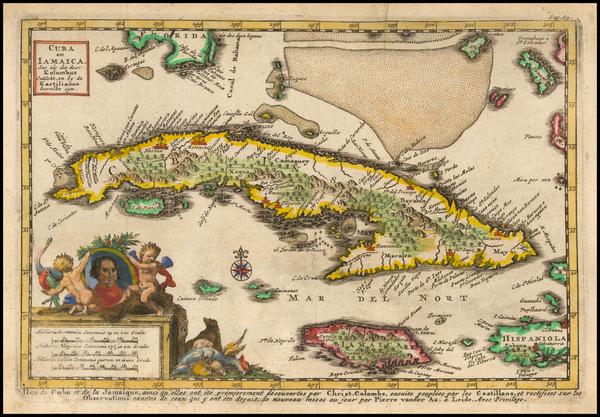 73-Cuba Map By Pieter van der Aa