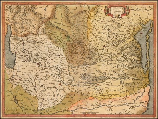 17-Northern Italy Map By  Gerard Mercator