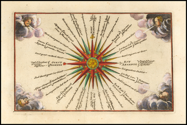 Curiosities and Celestial Maps Map By Adam Friedrich Zurner / Johann Christoph Weigel