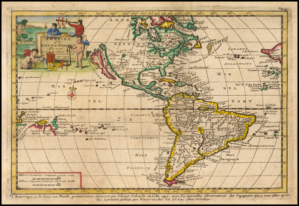 11-California as an Island and America Map By Pieter van der Aa