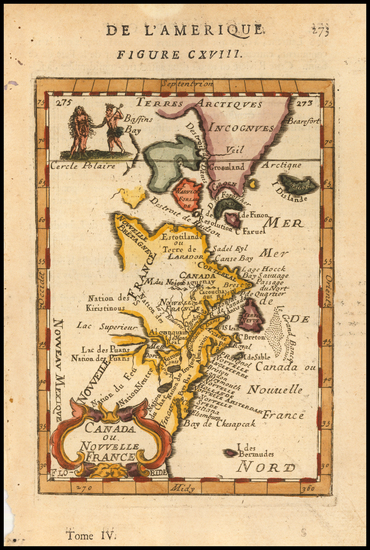 New England, Mid-Atlantic and Canada Map By Alain Manesson Mallet