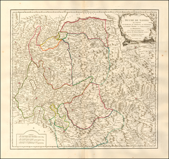 48-France and Northern Italy Map By Gilles Robert de Vaugondy