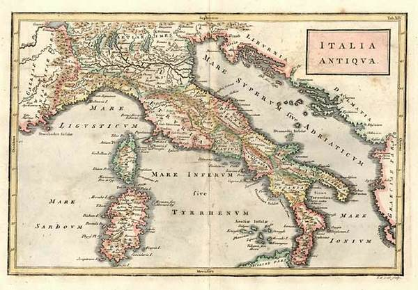 87-Europe, Italy, Mediterranean and Balearic Islands Map By Christoph Cellarius