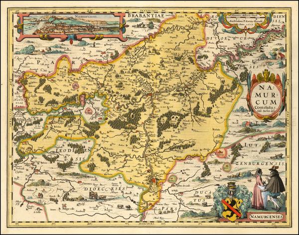 19-Belgium Map By Petrus Kaerius
