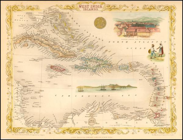23-Caribbean Map By John Tallis