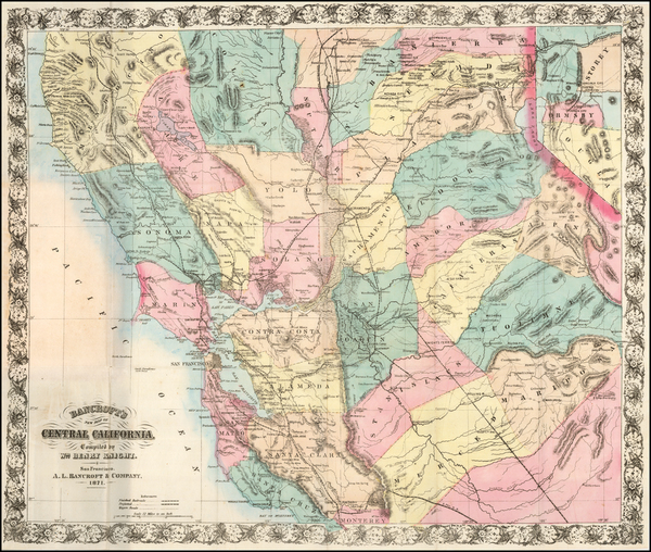 2-California Map By A.L. Bancroft & Co. / William H. Knight