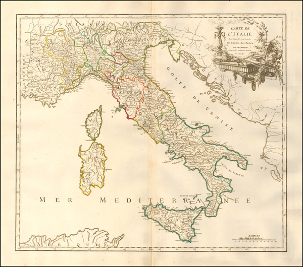 25-Italy Map By Didier Robert de Vaugondy