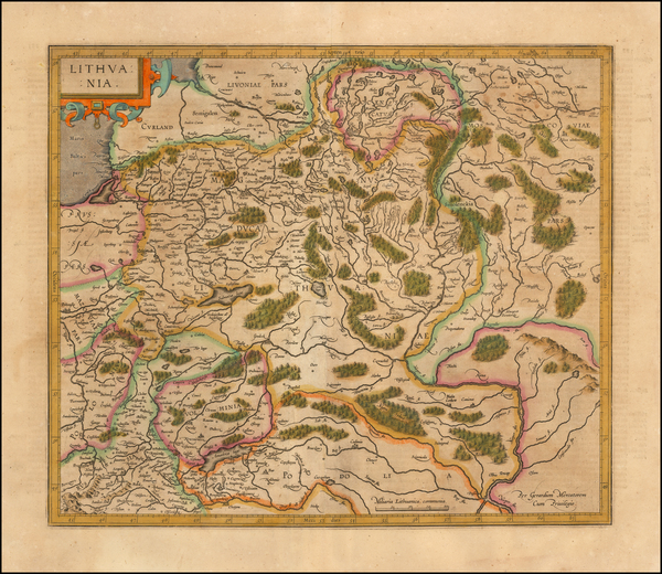90-Poland and Baltic Countries Map By Rumold Mercator