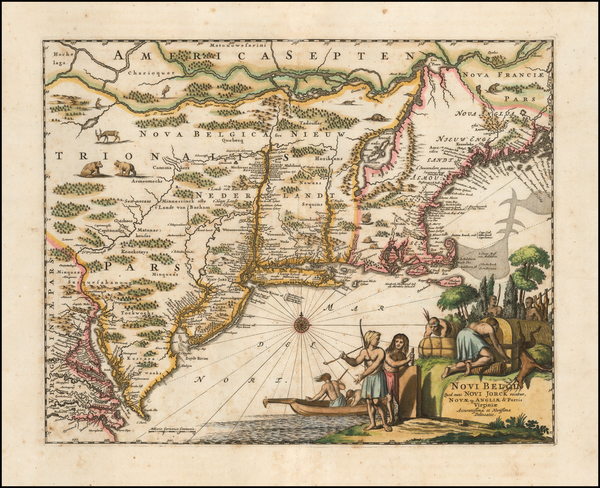 1-New England and Mid-Atlantic Map By John Ogilby