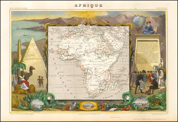 30-Africa and Africa Map By Victor Levasseur