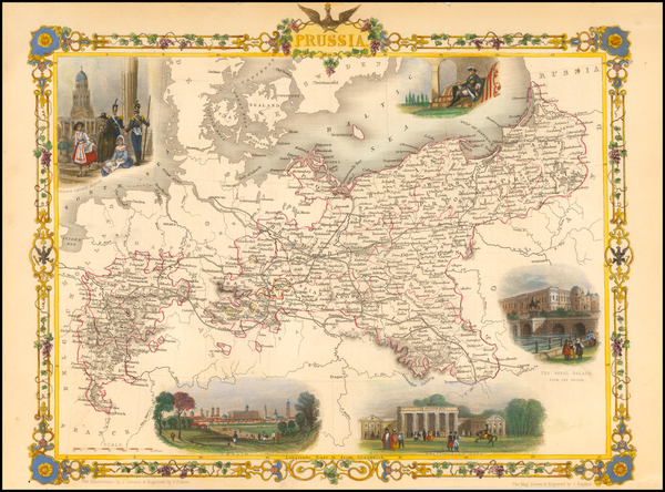 17-Germany and Baltic Countries Map By John Tallis