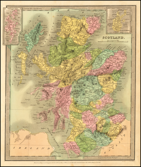 0-Scotland Map By David Hugh Burr