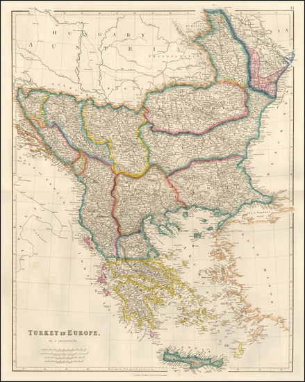 48-Balkans, Greece and Turkey Map By John Arrowsmith