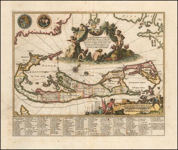 27-Bermuda Map By John Ogilby