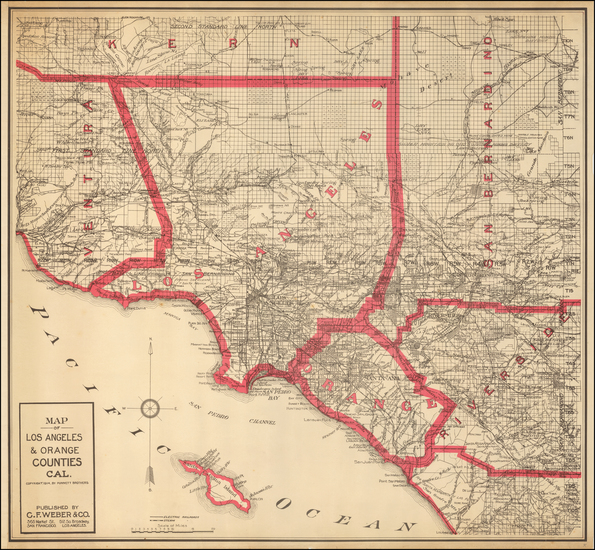 95-California Map By Punnett Brothers