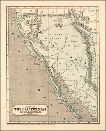 4-Southwest, Arizona, Utah, Nevada, Rocky Mountains, Utah, Baja California and California Map By