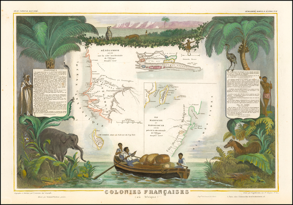 64-East Africa and African Islands, including Madagascar Map By Victor Levasseur