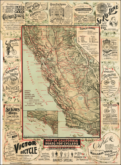 54-Pictorial Maps and California Map By George W. Blum