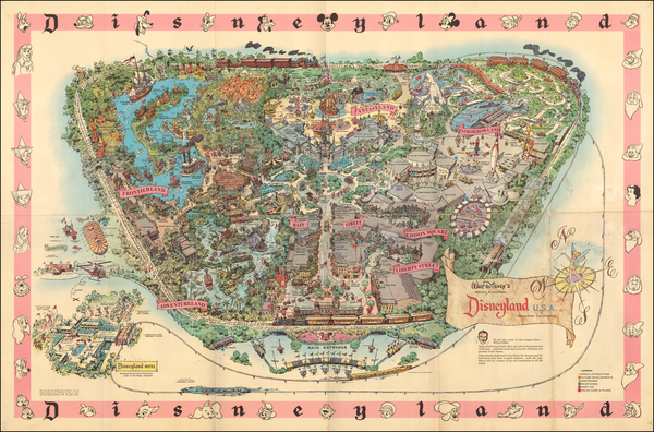 56-Pictorial Maps, California and Other California Cities Map By Walt Disney Productions