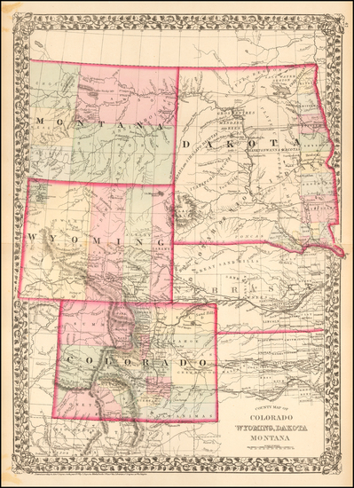 70-Plains, North Dakota, South Dakota, Colorado, Rocky Mountains, Colorado, Montana and Wyoming Ma