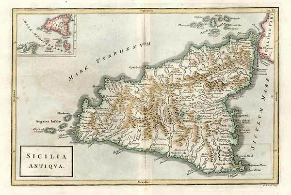 83-Europe, Italy, Mediterranean and Balearic Islands Map By Christoph Cellarius