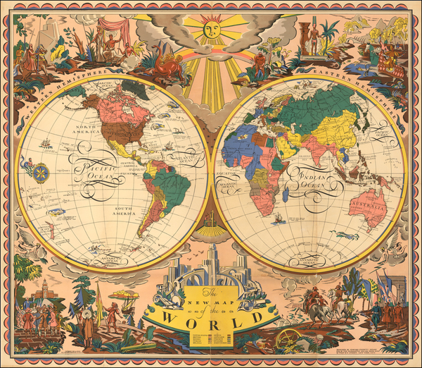 91-World and Pictorial Maps Map By