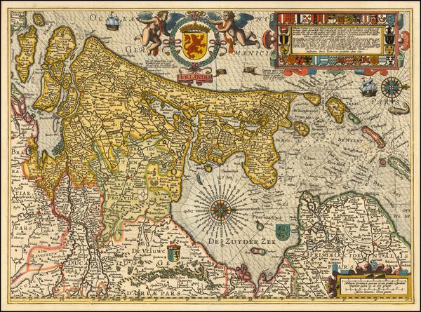 Netherlands Map By Petrus Kaerius