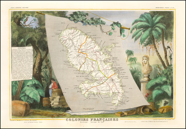 63-Other Islands and Martinique Map By Victor Levasseur