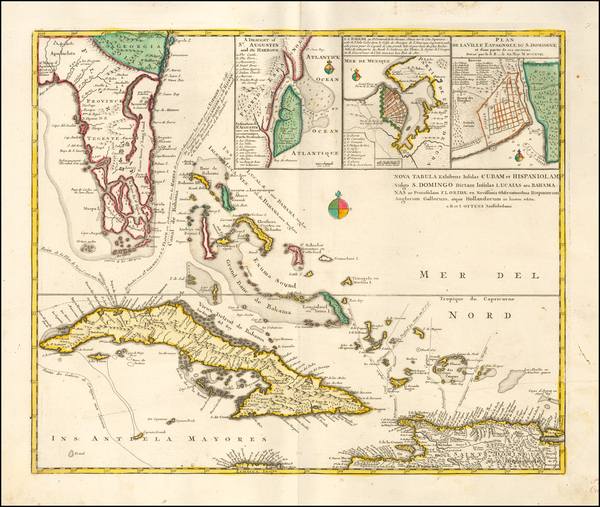 69-Florida, Cuba and Bahamas Map By Reiner & Joshua Ottens