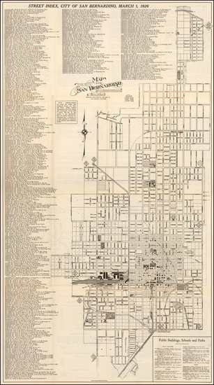 90-Other California Cities Map By Sun Printing & Publishing House