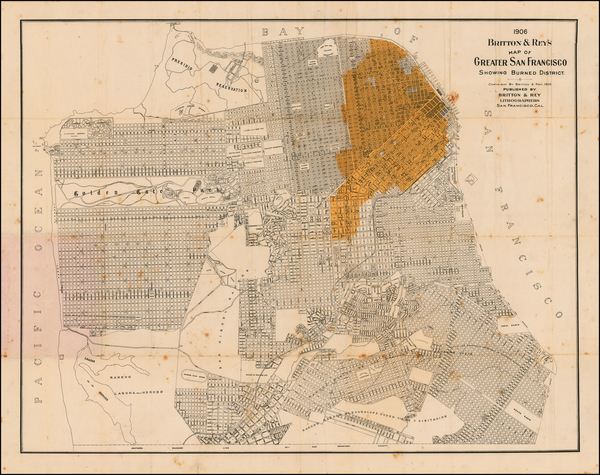 43-San Francisco Map By Britton & Rey