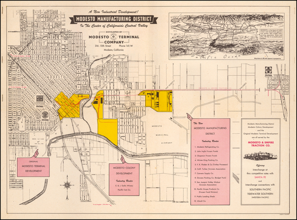 9-Other California Cities Map By Modesto Terminal Company