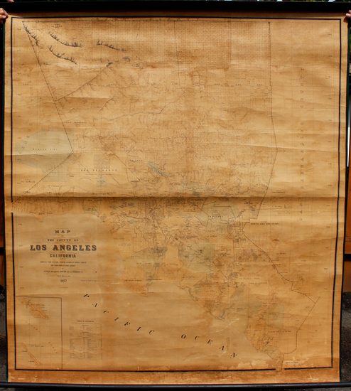 82-California and Los Angeles Map By J. H. Wildy  &  A. J. Stahlberg