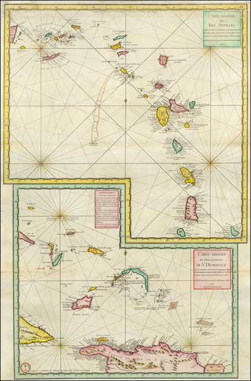 52-Bahamas and Other Islands Map By Depot de la Marine