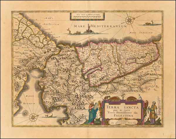 91-Holy Land Map By Willem Janszoon Blaeu