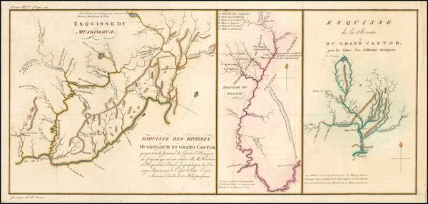 49-Midwest and Ohio Map By Pierre Antoine Tardieu / Michel Guillaume St. Jean De Crevecoeur