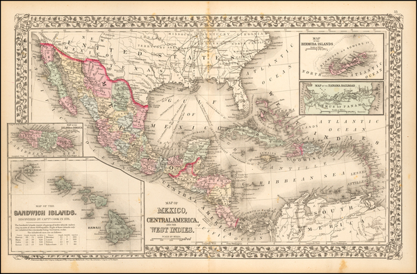 1-Southwest, Hawaii, Mexico, Caribbean, Australia & Oceania and Hawaii Map By Samuel Augustus