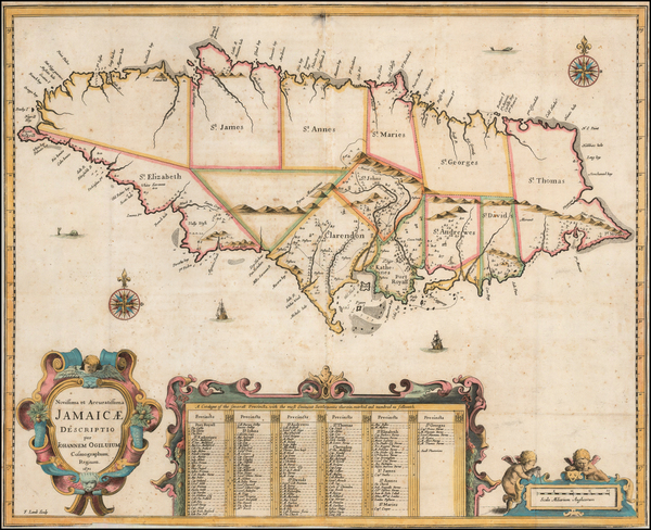 83-Jamaica Map By John Ogilby